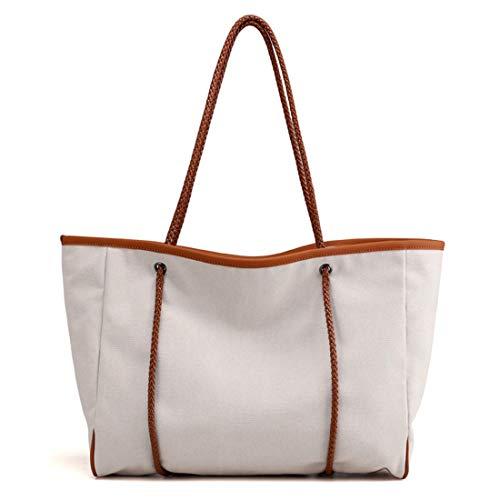 color Joyiyuan Da A In Borsa White Viaggio Mano Grande Tote Grande Blue Bag Tessuto Grigio wwr7x