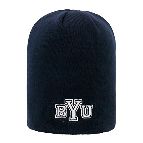 (Top of the World BYU Cougars Official NCAA Uncuffed Knit Classic Beanie Stocking Stretch Sock Hat Cap 923468)