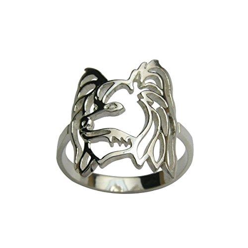 H&H jewellery pagneul nain continental Papillon bague d'argent - 59; Bigouterie d'argent - Bague (titre 925/1000)