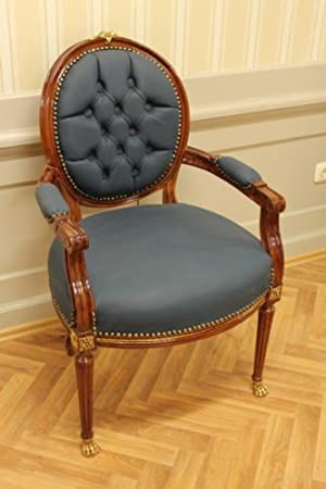 LouisXV Barroco rococó fauteuille silla MoCh0067AHzSkBl ...