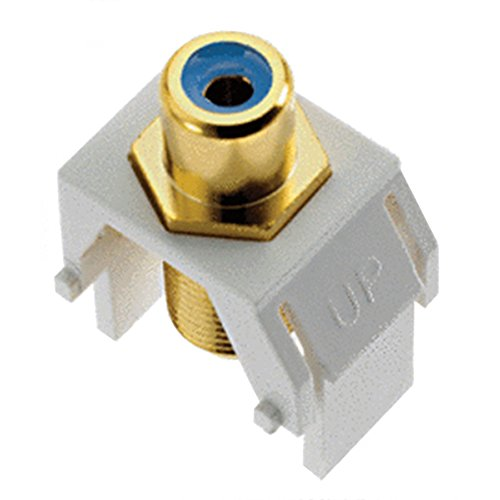 Legrand - On-Q WP3464WH Keystone BlueRCA to FConnector, White (Rca White F Keystone To)