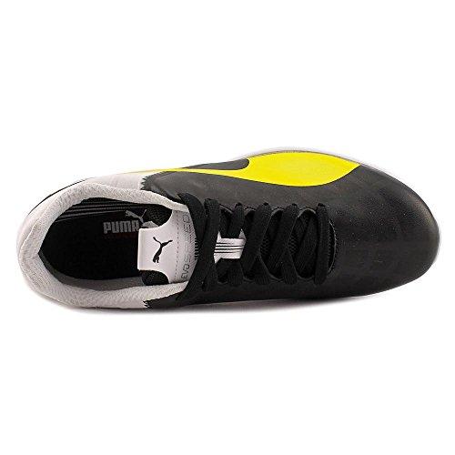 Puma Ferrari Evospeed 1.4 Chaussures Pour Hommes Black-vibrant Jaune-blanc