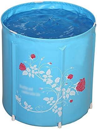 FQ ポータブルプラスチック製バスタブ、折りたたみ式自立型浴槽、家庭用厚手の浴槽、快適なクッション、成人用浴槽、ベビースイミング (Size : M)