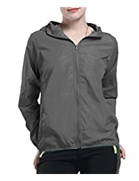 Women's Long Sleeve Hooded Windproof Cycling Hiking Rain Jacket Sportswear