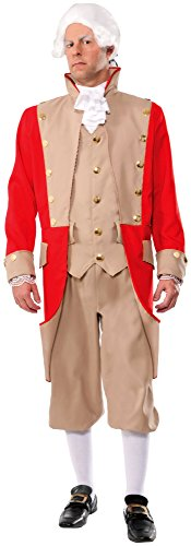 Forum Novelties Men's British Red Coat Deluxe Costume, Multi, Standard -