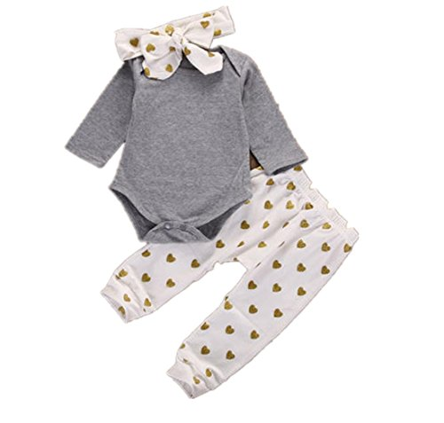 FEITONG 1Set Newborn Baby Boys Girls Bear Tops Romper+ Pants