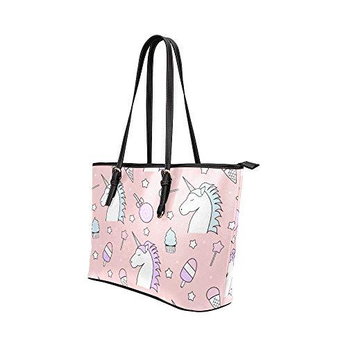 Handväskor crossbody väska tecknad animation vilda djur häst läder handväskor väska orsaksala handväskor dragkedja axel organiserare för dam flickor kvinnor väskor för axel