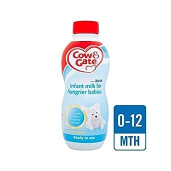 Cow & Gate Hungriger Babys Milch Bereit 1L Zu Füttern - Packung mit 6