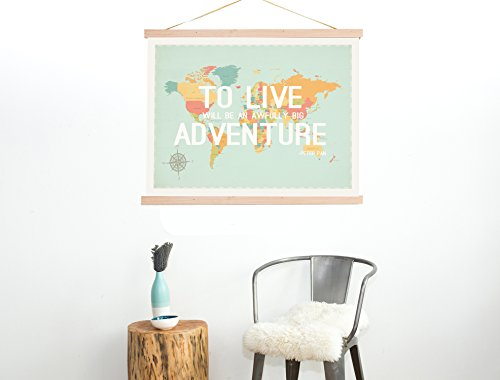 Children Inspire Design To Live World Map Wall Art Print, 24-Inch by 18-Inch