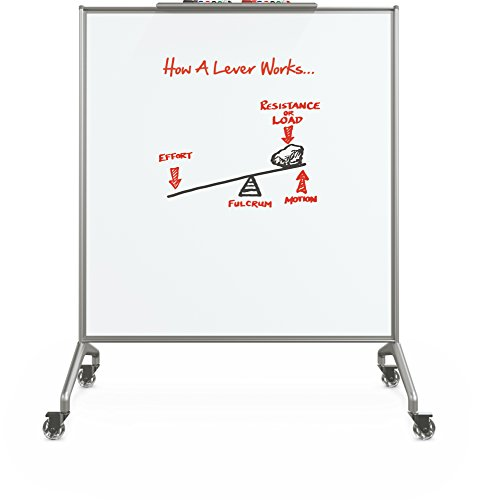 Best-Rite Glider Mobile Whiteboard Divider, Double Sided Porcelain Marker board, 59''H x 48''W x 22''D (84220) by Best-Rite