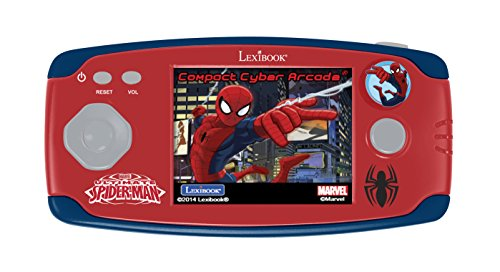 Lexibook - JL2365SP - Console de jeux portable Spider-Man - Compact Cyber Arcade Center 150 Jeux - 10 jeux Spider-Man et 140 jeux classiques - Spider-Man - Rouge/Bleu