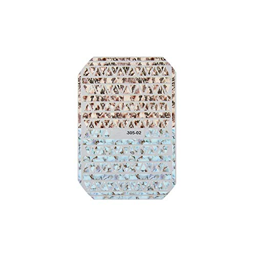 - alerghrg 1Pc 3D Nail Art Stickers Marble Stone Grid Leopard Nail Sticker Decals Nail Accessories,02
