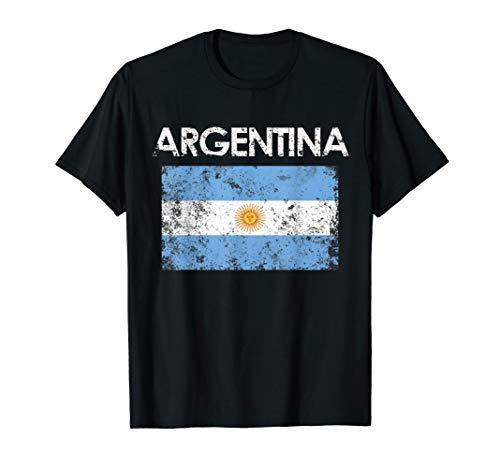 Vintage Argentina Argentinian Flag Pride Gift T-Shirt