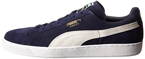 PUMA Men's Suede Classic + Sneaker, Peacoat/White, 9 M US Photo #5
