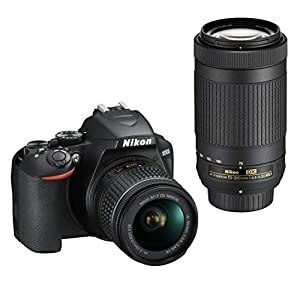 Nikon D3500 DX-Format DSLR Two Lens Kit with AF-P DX NIKKOR 18-55mm f/3.5-5.6G VR & AF-P DX NIKKOR 70-300mm f/4.5-6.3G ED, Black