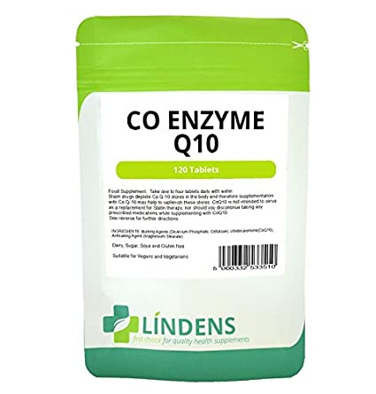Lindens Co enzima Q10 Co-Q10 30 mg CoQ10 360 tabletas de 3 ...