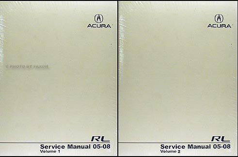 2005 acura rl owners manual - 8