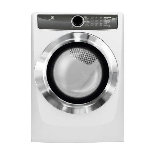 Electrolux EFMG617SIW 27″ Energy Star Front Load Gas Dryer with 8 cu. ft. Capacity Perfect Steam Allergen Cycle 15 Minute Fast Dry and Reversible Door: Island