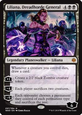 Liliana Dreadhorde General MTG EN War of the Spark Magic THE GATHERING