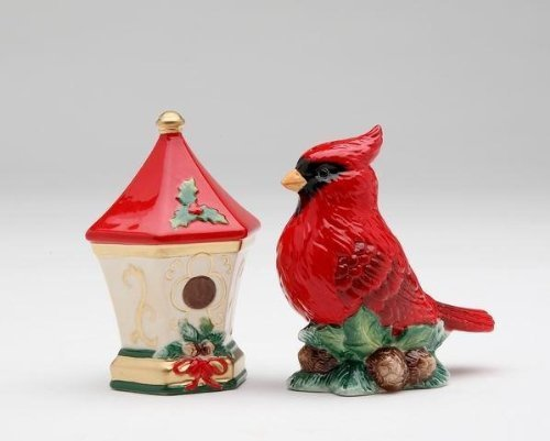 - Cosmos Gifts Cardinal with Birdhouse Salt and Pepper Set