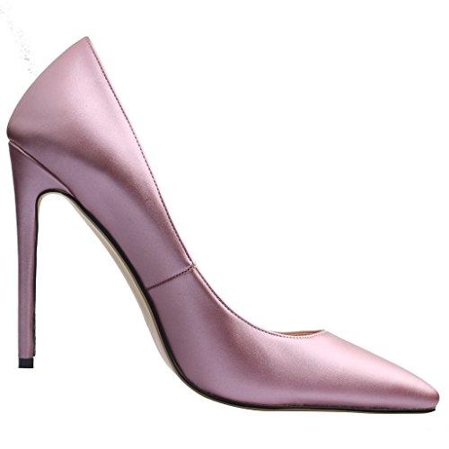 Calaier Womens 15 Kleuren Ons Maat 4-15 Stiletto 12cm Hoge Hak Jurk Partij Bruiloft Kantoor Pompen Schoenen Paars B