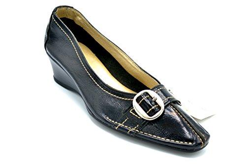 cuña Pitillos negro 730 de con Zapato charol wBpwT