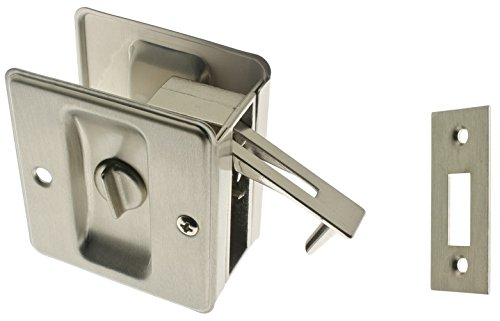 idh by St. Simons 25411-015 Premium Quality Solid Brass Pocket Privacy Door Pull, Satin Nickel Privacy Door