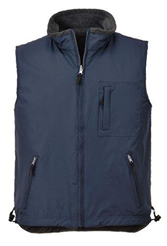 Portwest Mens All Weather RS Reversible Fleece Bodywarmer (L) (Navy) (Vest Sleeveless Reversible)