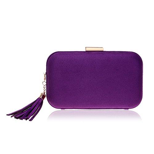 Purple Purple Sacs de soirée Le de de Color bandoulière d'embrayage Femmes à bandoulière Sac de Main de pour KERVINZHANG Sac à Sac gOR1pp