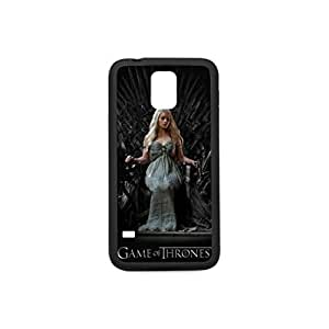Custom Case for Samsung Galaxy S5 Screen with the pattern Emilia Clarke Game of Thrones 3,Plastic and TPU Case, Corlor White and Black