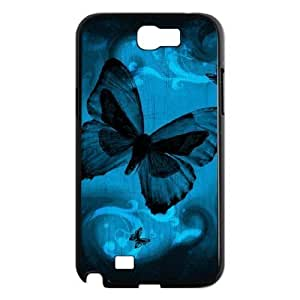 ALICASE Diy Design Back Case Butterfly for Samsung Galaxy Note 2 N7100 [Pattern-1]