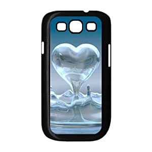 Heart Pattern Image On The Samsung Galaxy s3 9300 Black Cell Phone Case AMW898279
