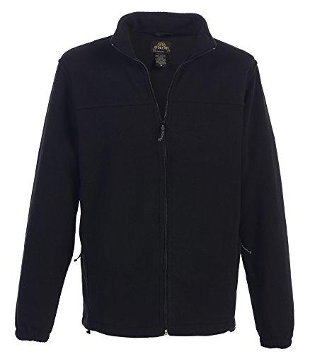Gioberti Mens Full Zip Polar Fleece Jacket, Black, XX-Large Black Polar Fleece Jacket