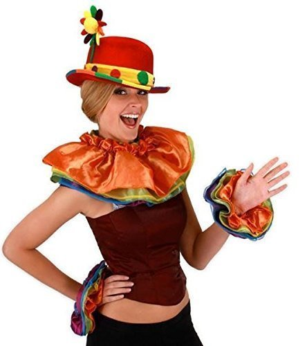 Collar And Cuffs Costumes (elope Rainbow Clown Collar & Cuff Set)