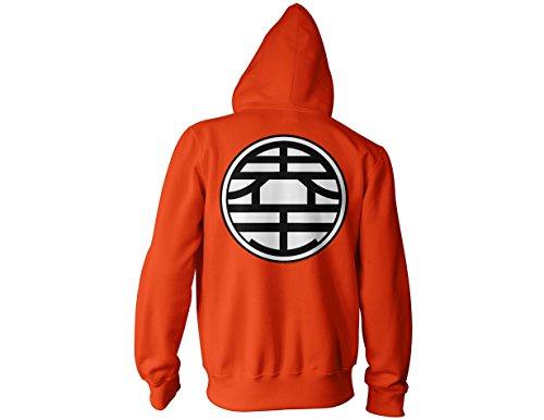 c4844edc Dragon Ball Z Kame Symbol Zip Up Hoodie M,Orange,Medium ...