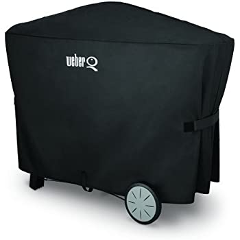 Weber 7112 Q 2000 and 3000 Series Grill Cover with Storage Bag, 56.6 x 22 x 39.3 Inches