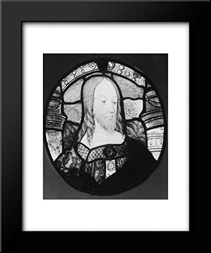 (Arnold of Nijmegen - Master of The Life of Saint John The Baptist - 15x18 Framed Museum Art Print- Head of Christ (one of a)