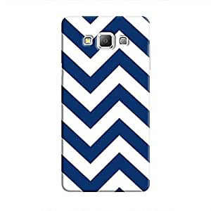 Cover It Up - Jagged Blue&White Galaxy A5Hard Case