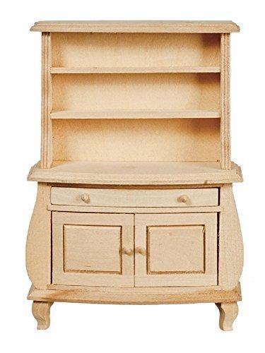 Amazon Com Melody Jane Dollhouse Bombe Cabinet Unfinished