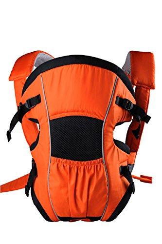 Babyhelp Comfortable Breatheable Cotton Baby Soft Carrier(OrangeBlack)