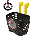 Qiuhome Kids Bike Basket Bicycle Handlebar Basket,  Kids Bicycle Bell Bike Accessories Gift for Girls Boys