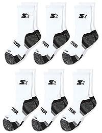 Starter Boys' 6-Pack Athletic Crew Socks, Amazon Exclusive