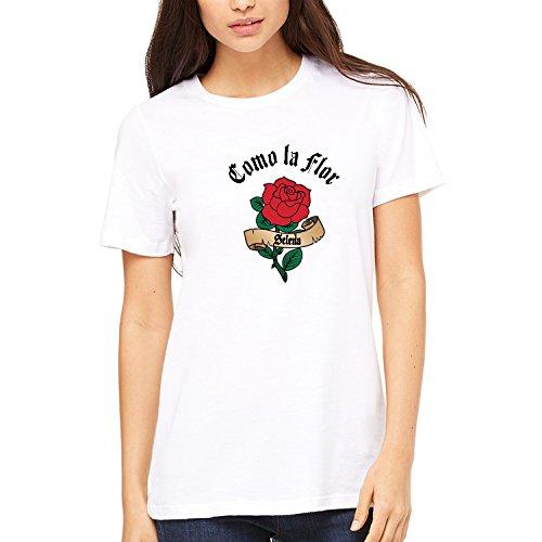 Misky & Stone Como La Flor Selena Tattoo Script Banner Super Soft T-Shirt Tee