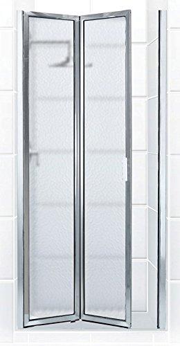 coastal shower doors paragon series framed bifold double hinge shower door in obscure glass