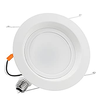 TORCHSTAR 6inch Dimmable LED Retrofit Recessed Downlight, LUTRON Caseta Dimmer Compatible, ENERGY STAR &