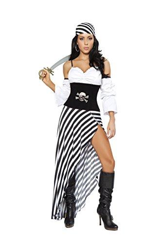 Sexy Women's 6pc Pirate Lass Buccaneer Costume (Pirate Lass Sexy Costumes)