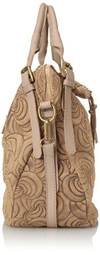 motifs des CTM géométriques 40x30x15 Fango sac cuir véritable femme Cm la de fourre Italie à en daim Gris sac en Élégant main italien fabriqué tout en avec RRnWF5Bqr1