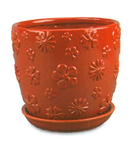 Pottery Sauce (New England Pottery Flower Hot Sauce Power Cup Pot, 7.5