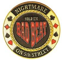 DA VINCI Hand Painted Poker Card Guard Protector, Bad Beat