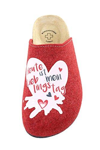 Donna Pantofole Donna Weeger Rot Donna Pantofole Pantofole Weeger Rot Weeger qXTw8E
